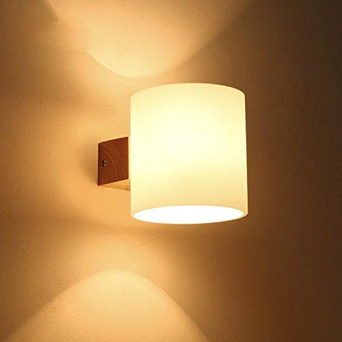 Welampa Moderne minimalistische Holz LED Wandleuchte Italien Wohnzimmer Esszimmer Schlafzimmer Kopfteil Korridor Hotel mit Schalter Wandleuchte Wandleuchte Minimalistische Eiche Leuchte Gang Treppenha -
