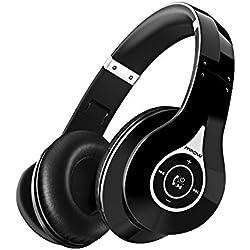 Cascos Bluetooth Mpow 059 para TV, 20hrs Reproducción de Música, Auriculares de Diadema Bluetooth Inalámbricos Plegable con Micrófono Hi-Fi Sonido Estéreo Ligero Manos Libres, PC, Móviles, Negro