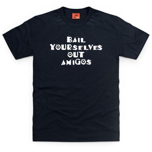 Square Mile Amigos T-Shirt, Herren Schwarz