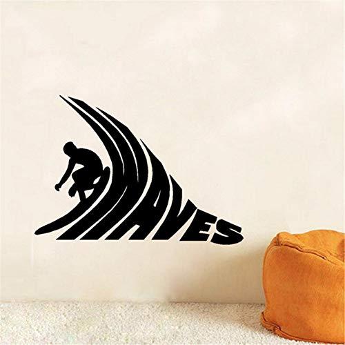 Preisvergleich Produktbild Yologg 42X48 Cm Surfer Reiten Vinyl Wandaufkleber Surf Waves Wandkunst Aufkleber Für Surfen Club Sport Raumdekoration Tapeten Für Schlafzimmer