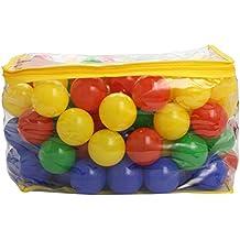 Bieco 22000510 - 100 bolas de colores de plástico (6 cm), colores variados [importado de Alemania]