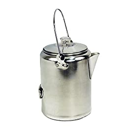 Texsport Aluminum 9 Cup Percolator Coffee Maker for Outdoor Camping