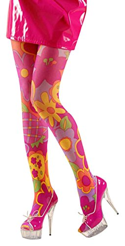 Dress Large Kostüm Extra Fancy - XL Pantyhose Flower Power Pink Accessory Extra Large for Lingerie Fancy Dress