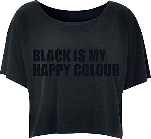 Black Is My Happy Colour Maglia donna nero M