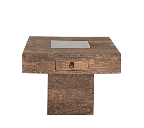 MASSIVMOEBEL24.DE Kolonialart Massivholz Möbel Palisander grau Couchtisch 60x60 Sheesham geölt massiv Möbel LEEDS #21