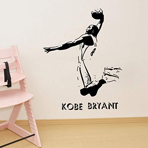 YXWYL Kobe Bryant Dunk Vinyl Wandtattoo DIY Kunstwand Jungen Zimmer Home Decor Abnehmbare Wandaufkleber 75X100 cm