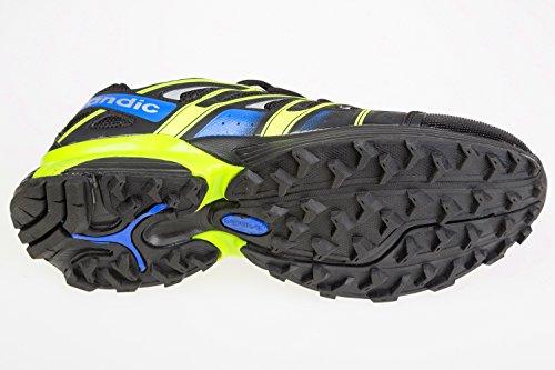 GIBRA homme-noir/jaune fluo/bleu taille 41–46 pied Noir - schwarz/neongrün/blau