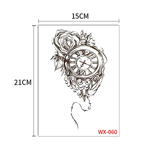 Handaxian 5pcs-Mechanical Arm Tattoo Sticker Blume Arm Lace Eagle Sun Wukong Geisha Tattoo Große Figur Tattoo Sticker 5pcs-36