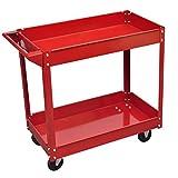 Chariot Werkzeugwagen Belastung 100kg rot und Größe der Reifen: Ø 9,5cm
