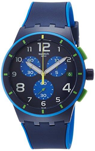 Swatch Reloj Digital para Hombre de Cuarzo con Correa en Silicona SUSN409