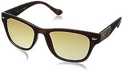 GUESS Mens Acetate Square Rectangular Sunglasses, Mto-34, 55 mm