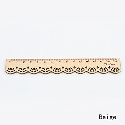 ii nette Briefpapier-Spitze Holz Lineal Sewing Lineal, braun (Schulbedarf Billig)