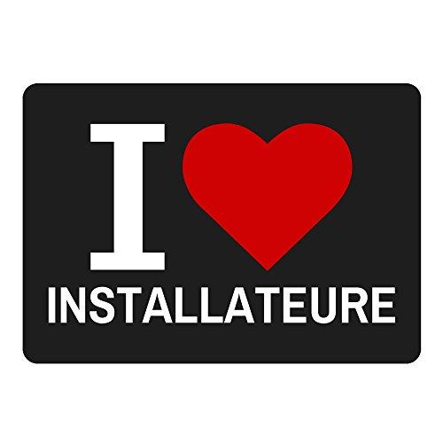 Tappetino per mouse Classic I Love installatori Nero