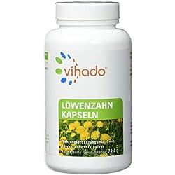 Vihado Löwenzahn-Wurzel Kapseln hochdosiert, Ohne Magnesiumstearat, 4 Monate Sparpaket, Made in Germany, 120 Kapseln