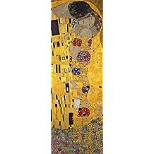 Lámina 'El beso, ca.1907 (detalle)', de Gustav Klimt, Tamaño: 30 x 91 cm
