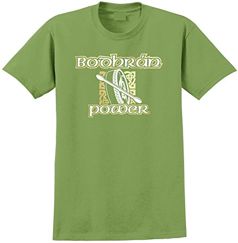 Bodhran Power - Kiwi Grun T Shirt Größe 112cm 45in XL MusicaliTee