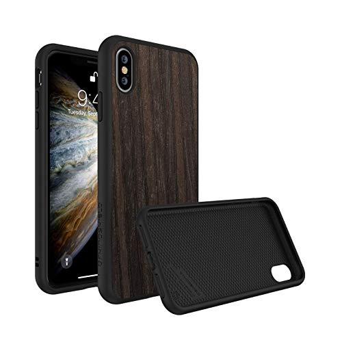 Eiche Dünn (Rhino Shield Case für iPhone XS [SolidSuit]   Schock Absorbierende Dünn Designte Premium Schutzhülle [3,5 Meter Fallschutz] - Schwarze Eiche (Naturholz))