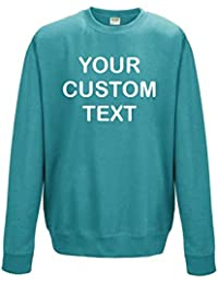 Star and Stripes AWD Custom Printed Personalised Just Hoods Sweatshirt kids and adults Custom text print Just Hoods Sweatshirt in Gift Box