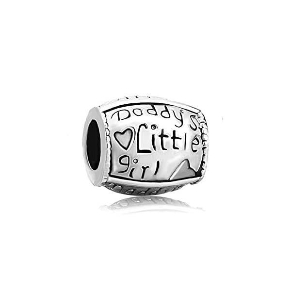 Isajewelry Daddy S Little Girl Charm 925 Silver Love Heart Charm