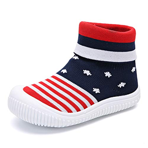 YUHUAWYH Bebé Muchachos Chicas Calzado Antideslizante Calcetines Zapatos para niños pequeños Caminante...