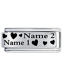 Abalorio italiano, super cierre personalizado, familiares, amantes, amigos, se personaliza con nombre, compatible con pulsera Nomination