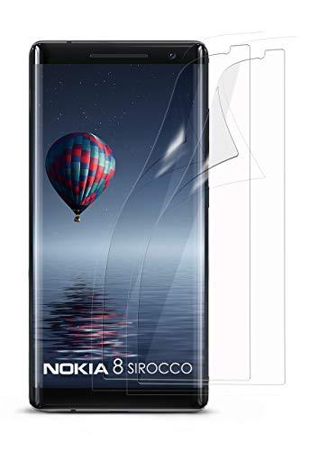 moex 2X Nokia 8 Sirocco | Schutzfolie Klar Bildschirm Schutz [Crystal-Clear] Screen Protector Display Handy-Folie Dünn Bildschirmschutz-Folie für Nokia 8 Sirocco Bildschirmfolie