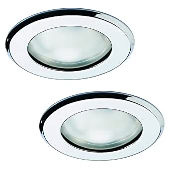 Pack of 2 - Chrome R63 Recessed Ceiling Downlights