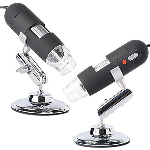 BlueBeach® 50X-500X 8 LED USB Microscope numérique Endoscope loupe pour