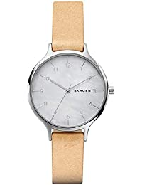 1648cbc95db3 Skagen Reloj Analógico para Mujer de Cuarzo con Correa en Cuero SKW2634
