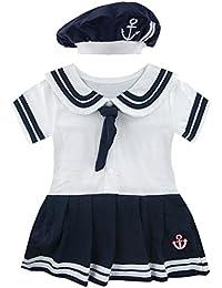 Mombebe bebé vestido niña marinero Body