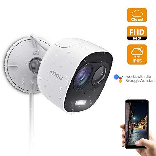 Imou Überwachungskamera Aussen, 1080P WLAN IP Kamera Aussen Wetterfeste IP65 mit PIR Bewegungserkennung, Zwei-Weg Audio und Nachtsicht zur Aktiven Abschreckung mit Lautsprecher und Scheinwerfer -