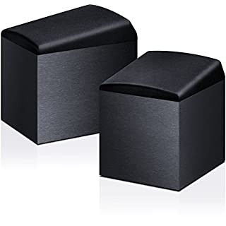 Onkyo Lautsprechersystem für Dolby Atmos, SKH-410-B, 100 W Eingangsleistung, Heimkino, Satelliten-Lautsprecher, Gehäuse aus Holz mit Vinyl beschichtet, Wandmontage möglich, Schwarz, 1499373