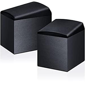 Onkyo SKH-410(B) Speaker System for Dolby Atmos (100W Input Power, Home Cinema, Satellite Speakers, Wooden Cabinet with Vinyl Coating, Wall Mounting Possible), Black