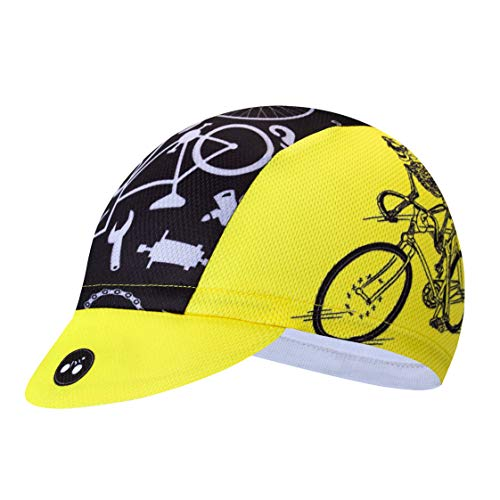 Weimostar Radfahren Caps Männer Frauen Rennrad MTB Fahrrad Hüte Headwear Sun UV Proof Team Sports Running Helm Innenkappe Zyklus Bandana Anti-Sweat atmungsaktiv schnell trocknend