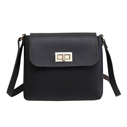 BZLine® Women's Shoulder Bag Handbag Mini Messenger Shoulder Bag Handtasche Schwarz