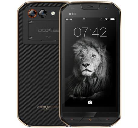 DOOGEE S30 - IP68 Wasserdicht 4G Robustes Smartphone Android 7.0, 5580mAh Akku-Dreifachkamera (5MP + 3MP + 8MP), 2GB / 16GB Dual SIM GPS - Gold