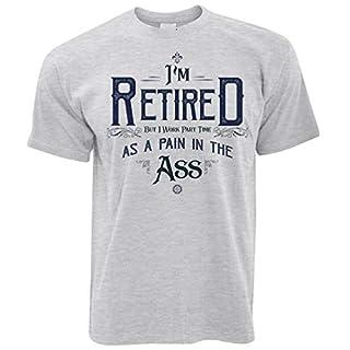 Pensionierung T-Shirt Ich Bin im Ruhestand, Aber ich arbeite Teilzeit Grey X-Large