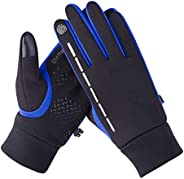 IQQI Running Gloves Touch Screen Winter Warm Glove - Windproof Water Resistant for Cycling Driving Outdoor for