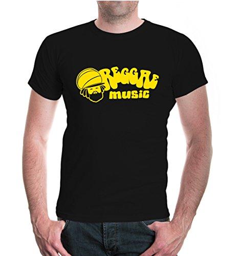 buXsbaum® T-Shirt Reggae Music Black-Sunflower