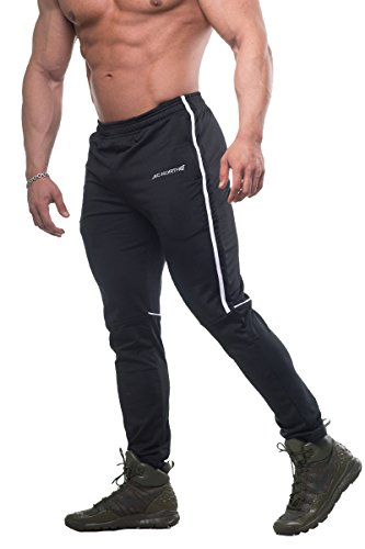 Jed North Men's Slim-Fitted Workout Joggers Gym Casual Tapered Sweat Pants