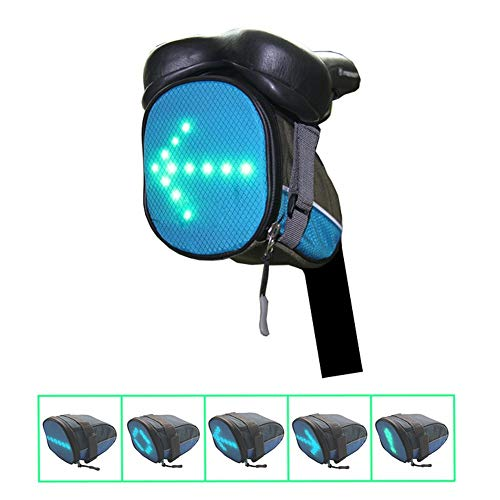 Coogel Bike Tail Light Led Wireless Remote Control Safety Bag Rear USB Rechargeable Super Bright Bicycle Taillight Fits On Any Road Bikes for Cycling Flashlight Night Warning Guiding Tool (Blue)