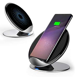 Aursen® Fast Wireless Charger,Qi Ladegerät für iPhone X / iPhone 8 Plus / iPhone 8, Induktive Ladestation für Samsung Note 8 S8 Plus S9+ S9 S8+ S8 S7 S7 Edge Note 5 S6 Edge Plus und alle anderen Qi-fähigen Geräte - Silber