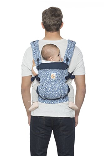 Ergobaby Baby Carrier 4 Position Omni 360 Batik Indigo Front Back Baby Carrier Infant, Body Carrier Front Facing for Men and Women