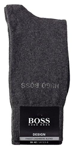 BOSS Socken RS Design aus Viskose-Kaschmir-Mix, Herbst/Winter by Hugo (39-42, Grau)