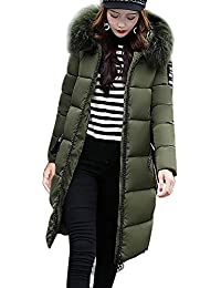 Mujer Invierno Casual Más Gruesa Abrigo Parkas Militar con Capucha Chaqueta  de Acolchado Anorak Jacket Outwear Coats 91cb456092f5