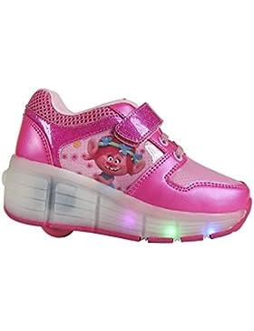 Zapatillas deportivas con ruedas y luz Trolls Poppy- T.32