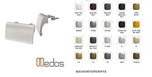 2 ER SET -Ziehgriff -Balkontürgriff -Material: ALU -Balkontür Griff -Terassentür-Farbe:Schwarz -Fa.:Medos-andere Farben im Shop bei uns