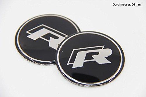 R306 R 2 stück Felgendeckel 3D Emblem Applique Auto Aufkleber 56 mm Nabendeckel Radkappen Nabenkappen Vw Nabenkappen 56mm