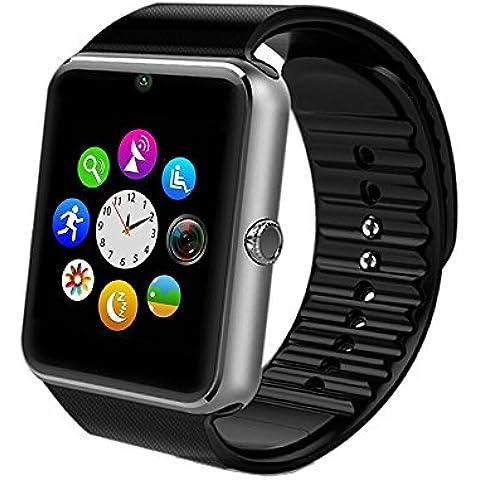ironlink 2016nuovo Smartwatch Orologio Cellulare Supporto Facebook Twitter con Bluetooth 3.0con 8G TF card Smart Orologio da polso Wrap braccialetto sportivo per fotocamere con 1.54pollici touch screen per Android, Samsung, HTC, LG Supporta SIM/TF Smartphone rk08