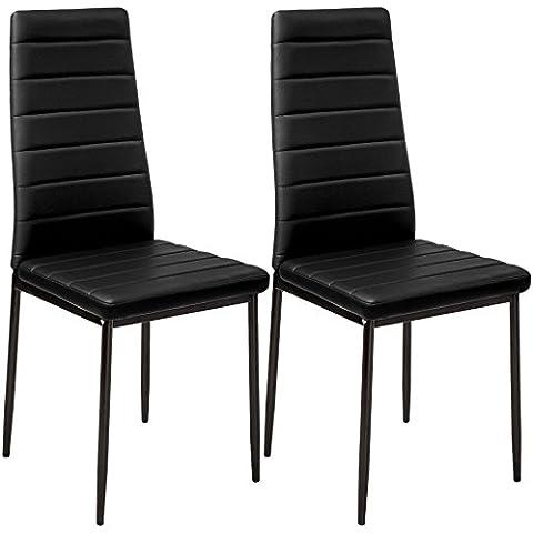 TecTake Set de 2 sillas de comedor 41x45x98,5cm negro